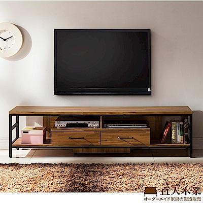 日本直人木業-STEEL積層木工業風181CM電視櫃(181x40x46cm)