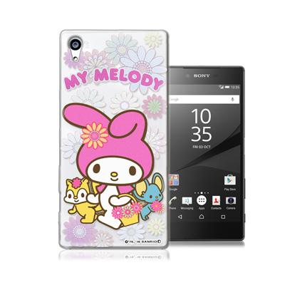 三麗鷗正版 美樂蒂 Sony Z5 Premium 5.5吋透明軟式保護殼(郊遊...