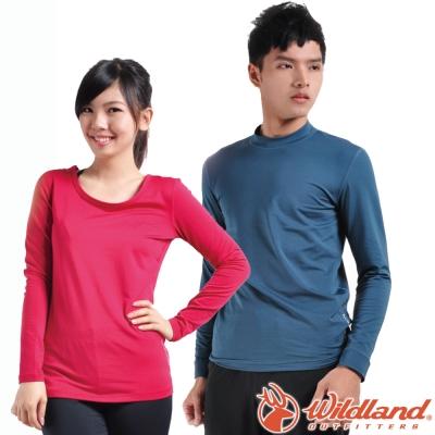 Wildland 荒野【任選2件1500元】男女款 遠紅外線彈性衛生衣/底層保暖衣