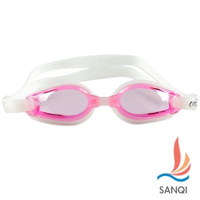 SANQI三奇 夏日必備抗UV防霧休閒泳鏡(8100-粉F)