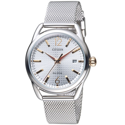 CITIZEN 星辰 美麗風情米蘭風時尚腕錶(FE6088-87A)-銀色/36mm