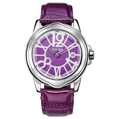 GOTO Romance時尚腕錶-紫/39mm