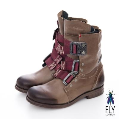 Fly-London-女-個性中筒真皮軍靴
