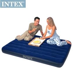INTEX 雙人植絨充氣床墊-寬137cm (68758)