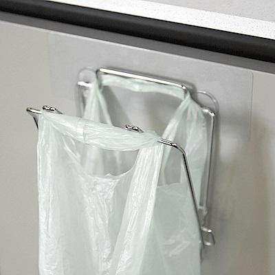 樂貼工坊 不鏽鋼垃圾袋架/掛架/微透貼面(2入組)-15.5x16x18.5