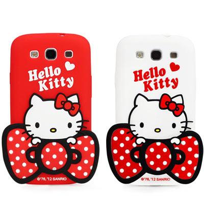 Hello Kitty Samsung S3 立體果凍套-果漾系列