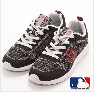 MLB大聯盟洋基異素材撞色設計避震氣墊運動鞋