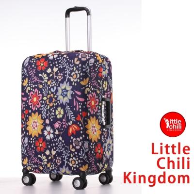 LittleChili行李箱套 517 -小花藍L