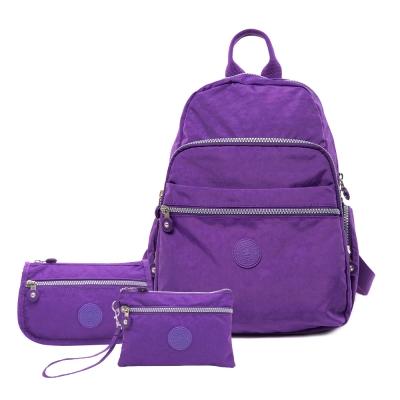 COUNT DUCK 美系悠活輕量多功能後背CD-004(超值三件組)神秘紫