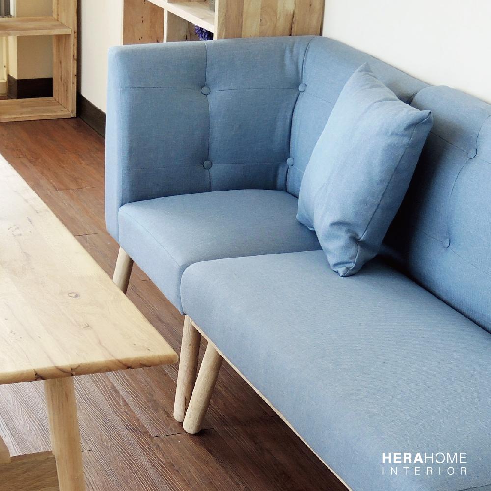 HERA Home Levi棉麻實木單人L型餐椅