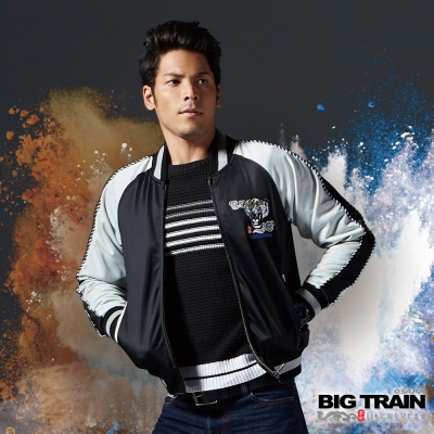 BIG TRAIN 橫須賀老虎外套-男-黑色