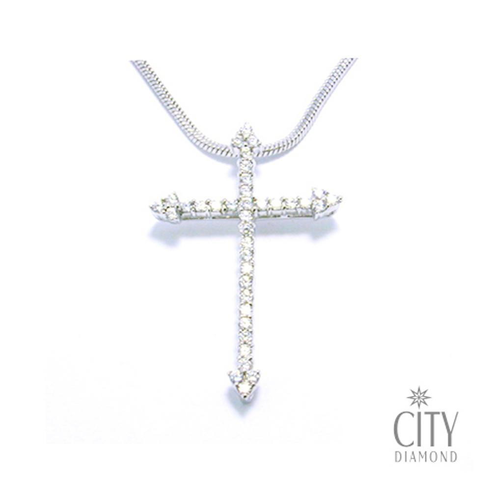 City Diamond【Belief十字架系列】十字箭K金項鍊