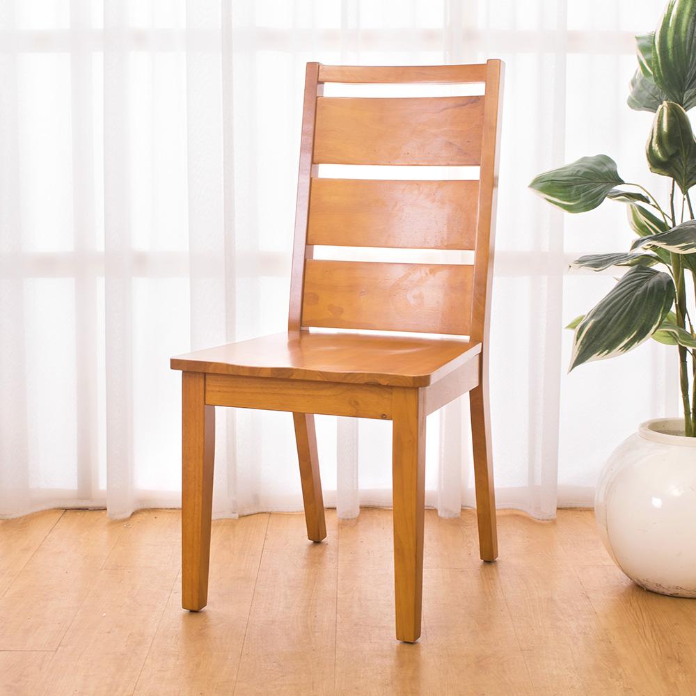 Bernice-亞歷柚木色實木餐椅(四入組合)-47x56x97cm