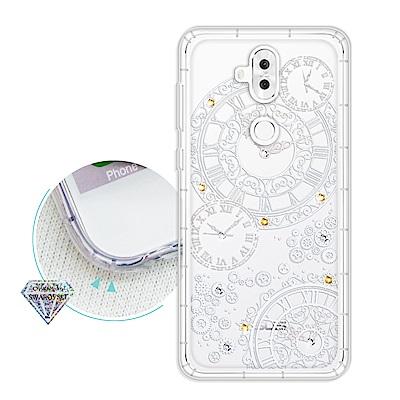 浪漫彩繪 ASUS ZenFone 5Q ZC600KL 水鑽空壓氣墊手機殼(齒...