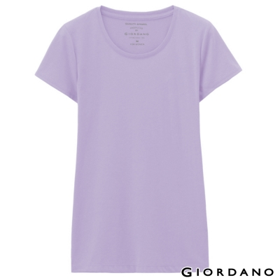 GIORDANO-女裝好感百搭圓領短袖TEE-70