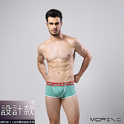 男內褲  設計師聯名-型男運動四角褲/平口褲 綠色 MORINOxLUCAS
