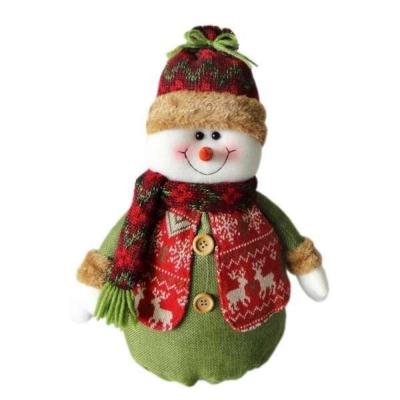 交換禮物-紅帽聖誕雪人布偶擺飾