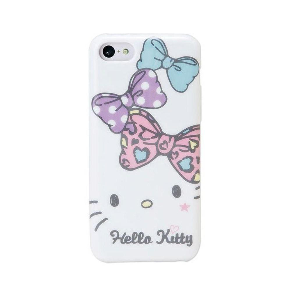 Sanrio HELLO KITTY粉彩緞帶iPhone5C保護殼