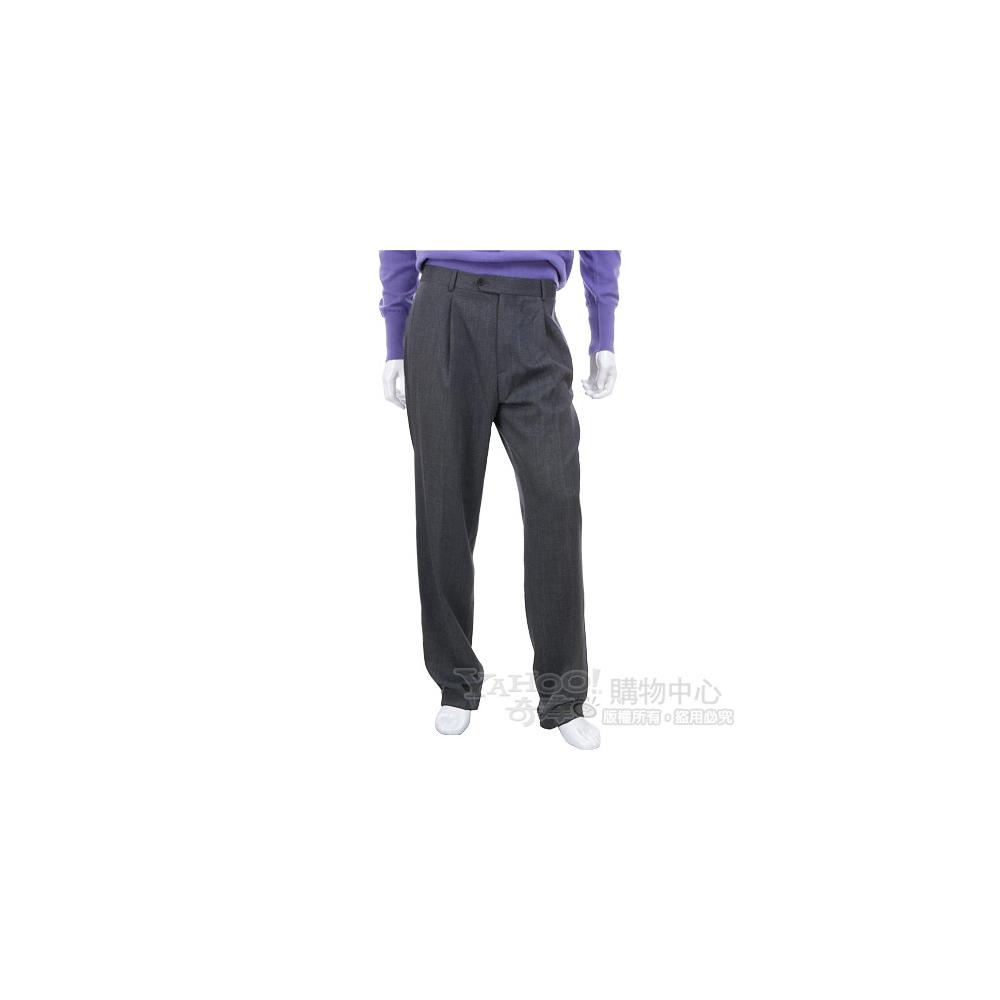 BOSS 灰色反褶設計西裝褲
