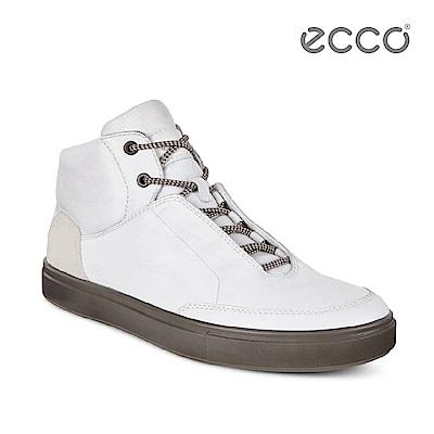 ECCO KYLE 時尚雅痞高筒休閒鞋-白