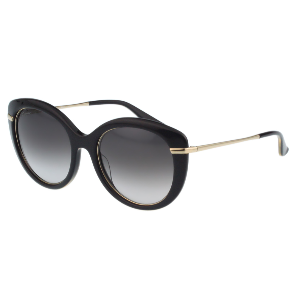 Salvatore Ferragamo- 時尚優雅太陽眼鏡(黑色)