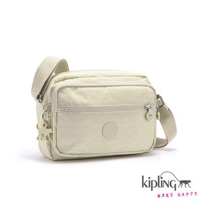 Kipling-斜背包-氣質糖霜白