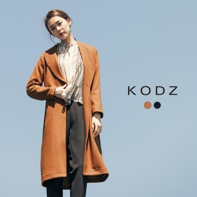 東京著衣-KODZ 雜誌款大翻領羊毛大衣外套-S.M.L(共二色)