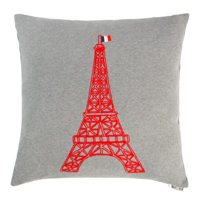 Yvonne艾菲爾鐵塔60x60cm方形抱枕-暗灰