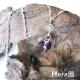 Hera 925純銀手作天然紫水晶花朵項鍊/鎖骨鍊 product thumbnail 1