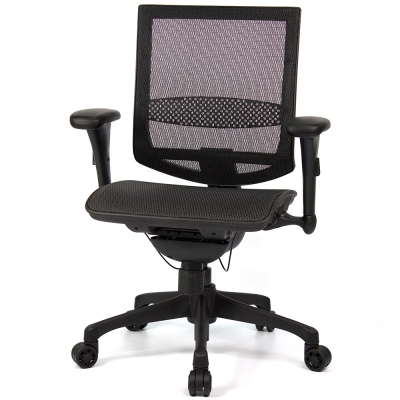 aaronation 愛倫國度 黑網-尼龍腳-線控式辦公椅