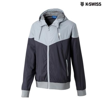 K-Swiss Basic Windbreaker風衣外套-男-灰