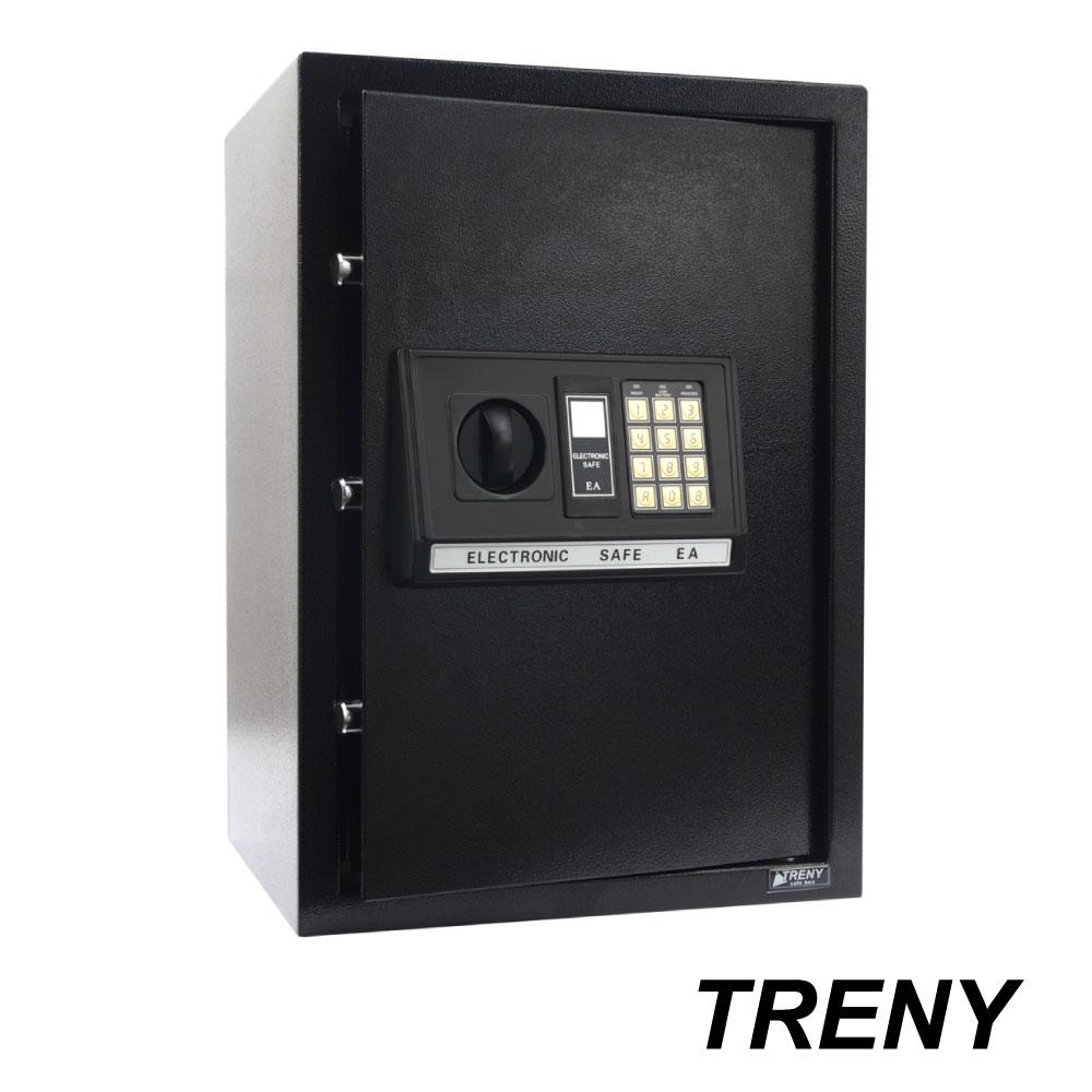 TRENY三鋼牙 電子式保險箱 大 黑