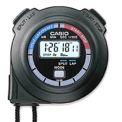 CASIO 單組記憶10HR計時秒錶(HS-3V-1R)-黑