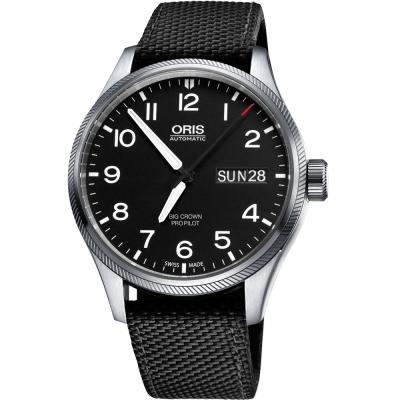 Oris Big Crown ProPilot 日曆星期機械腕錶-黑/45mm