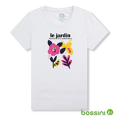 bossini女裝-印花短袖T恤23白