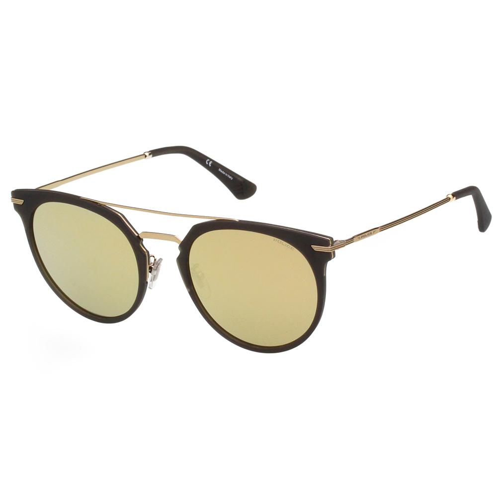 POLICE 水銀面太陽眼鏡 (深灰配金) SPL578