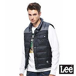 Lee 保暖舖棉背心-男款-黑色