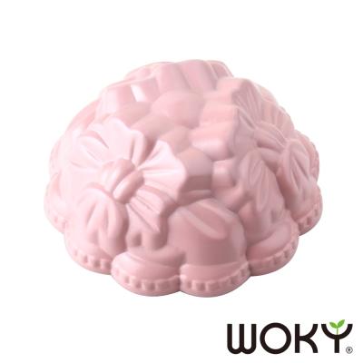 WOKY沃廚 La Douceur 法式粉彩系列蛋糕模3.5吋(小花朵朵-法式桃粉)