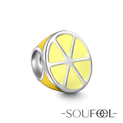 SOUFEEL索菲爾 925純銀珠飾 檸檬 串珠