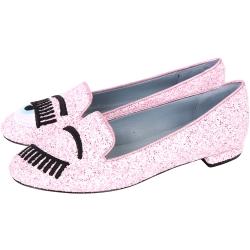 Chiara Ferragni Flirting 刺繡眨眼樂福鞋(粉色)