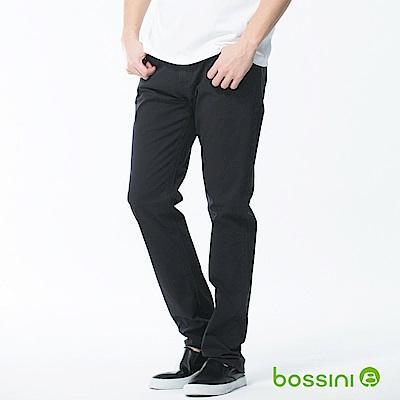 bossini男裝-修身卡其長褲02靛色