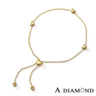 A Diamond 亞立詩鑽石 日系輕珠寶 10K金愛心手鍊-長度可調