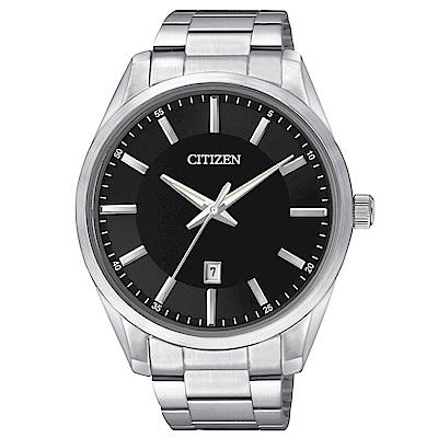 CITIZEN星辰 菁英時尚男性石英腕錶(BI1030-53E)-黑/42mm