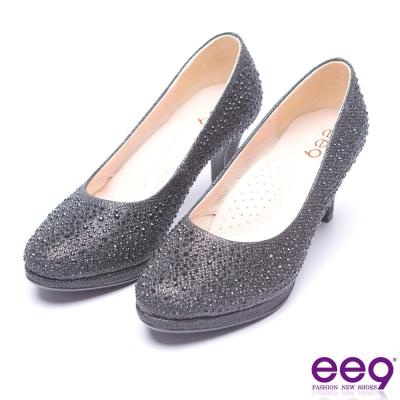 ee9 芯滿益足-璀璨奢華名媛專屬夢幻晶鑽跟鞋-黑色