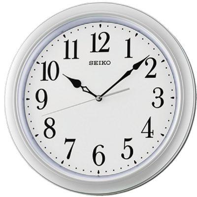SEIKO 日本精工 典雅風 滑動式秒針 靜音掛鐘 時鐘(QXA680S)銀-白/32cm
