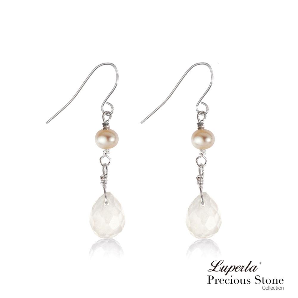 大東山珠寶  珍珠耳環氣質冰晶