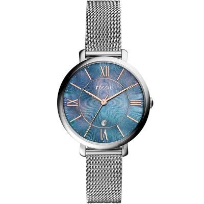 FOSSIL Jacqueline 羅馬佳人米蘭帶女錶-珍珠貝x銀/36mm