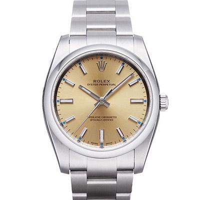 ROLEX 勞力士 AIR-KING 114200 蠔式恆動腕錶x香檳x34mm