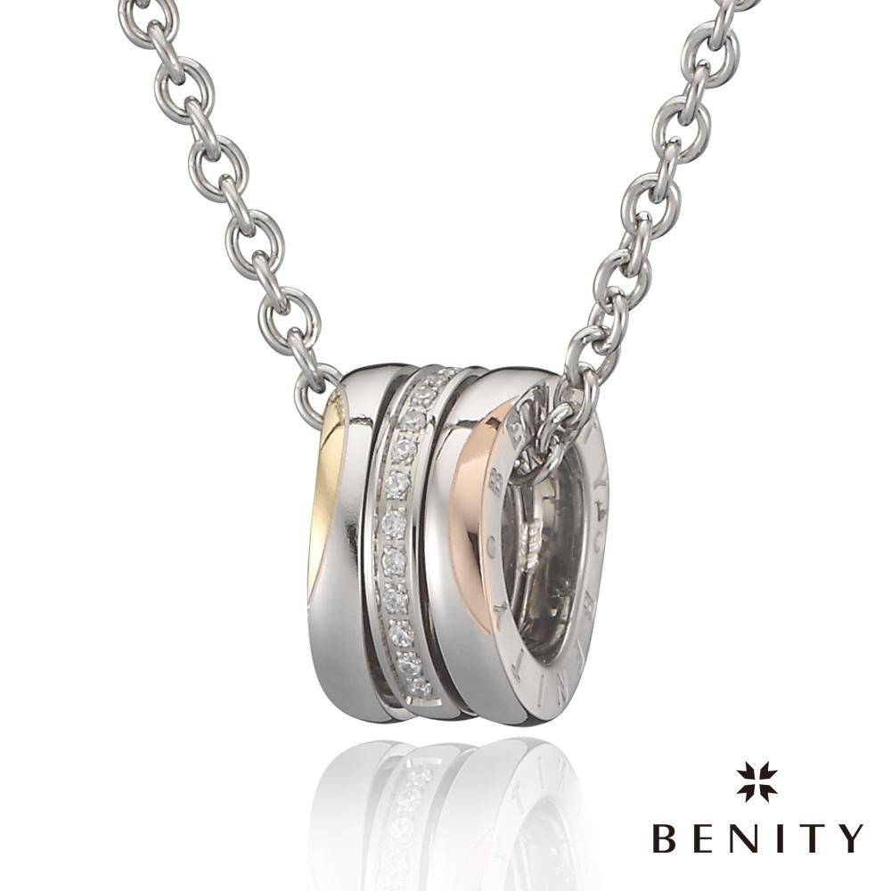 BENITY 愛‧漫遊 IP黃K/玫瑰金  316白鋼鍊 女項鍊