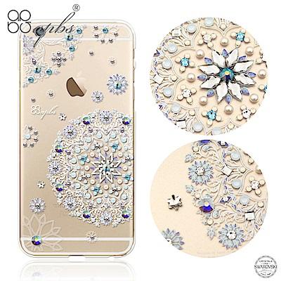 apbs iPhone6s/6 Plus 5.5吋 施華洛世奇彩鑽手機殼-天使心